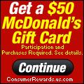 $50 McDonald's Gift Card