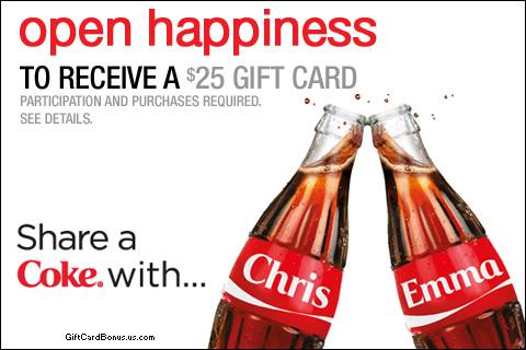 $25 Coca-Cola Gift Card